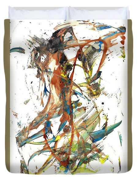 Duvet Cover featuring the painting Abstract Expressionism Painting Series 1039.050812 by Kris Haas