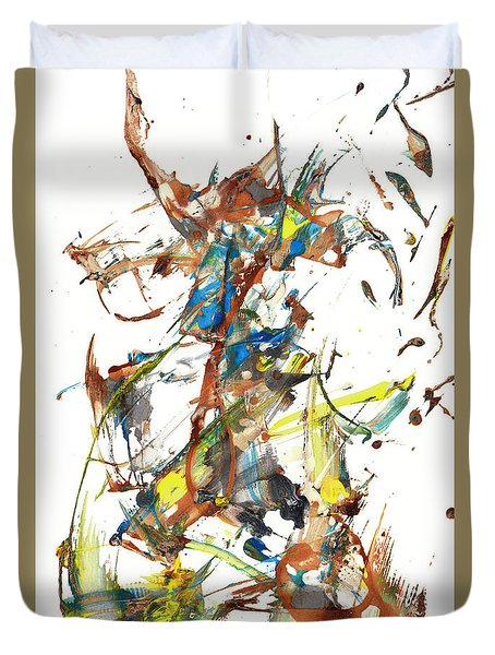 Duvet Cover featuring the painting Abstract Expressionism Painting Series 1040.050812 by Kris Haas