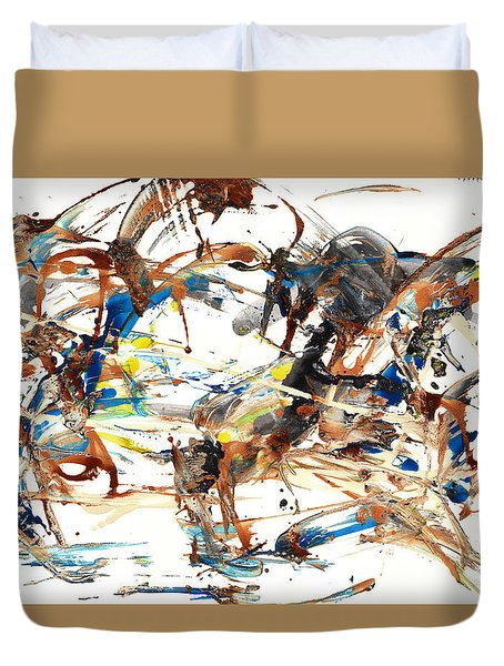 Duvet Cover featuring the painting Abstract Expressionism Painting Series 1042.050812 by Kris Haas