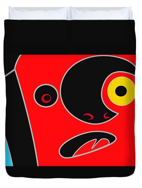 Abstract Face 2 Duvet Cover