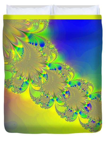 Abstract Feather 2 Duvet Cover
