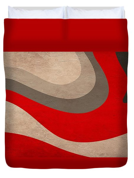 Abstract Fire Wave Duvet Cover