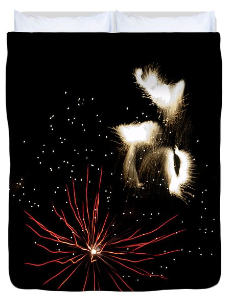 Abstract Fireworks IIi Duvet Cover