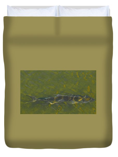 Duvet Cover featuring the photograph Abstract Fish 2 by Carolyn Dalessandro