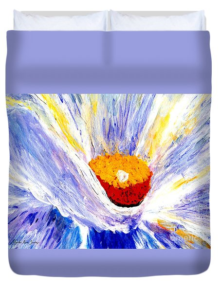 Abstract Floral Painting 001 Duvet Cover