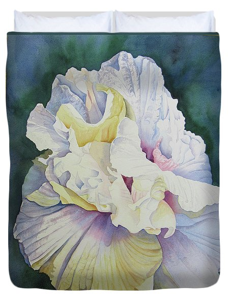 Duvet Cover featuring the painting Abstract Floral by Teresa Beyer
