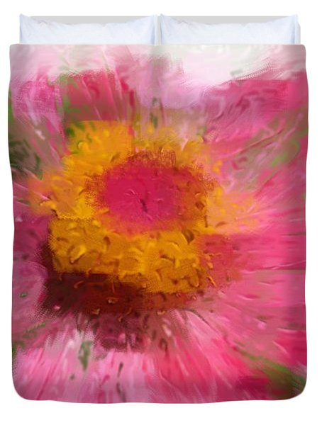 Abstract Flower Expressions Duvet Cover