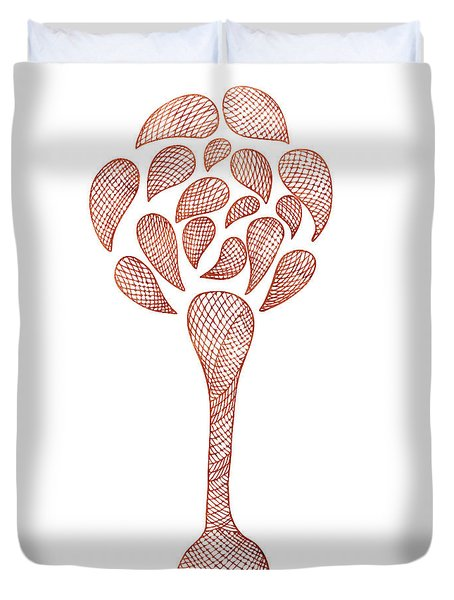Abstract Flower Duvet Cover by Frank Tschakert