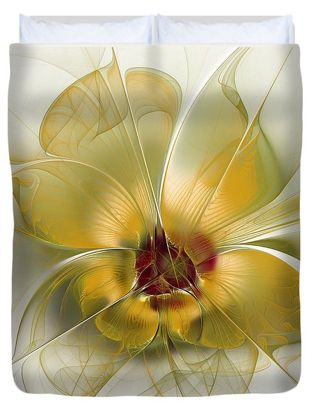 Abstract Flower With Silky Elegance Duvet Cover