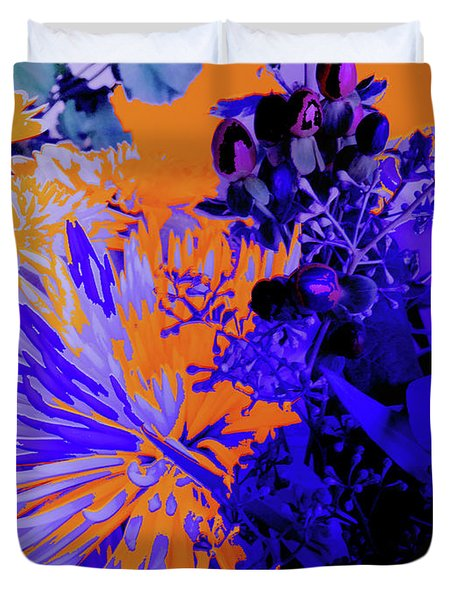 Abstract Flowers Of Light Series #1 Duvet Cover