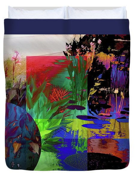 Abstract Flowers Of Light Series #19 Duvet Cover