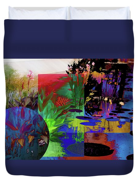 Abstract Flowers Of Light Series #21 Duvet Cover