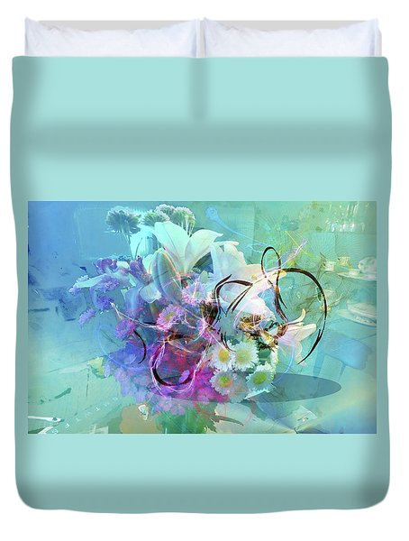 Abstract Flowers Of Light Series #9 Duvet Cover