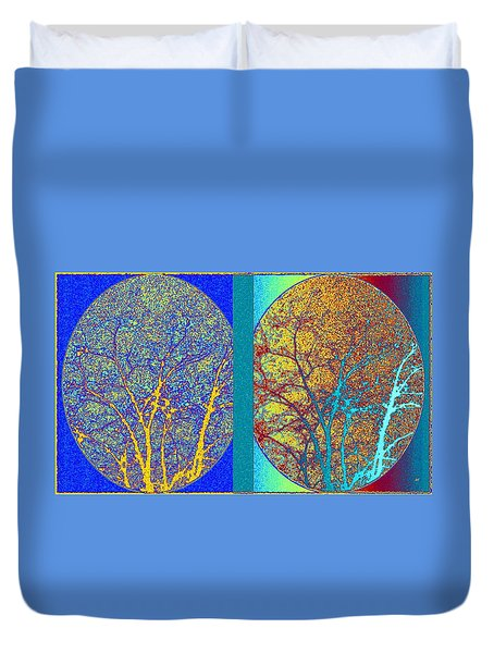 Abstract Fusion 276 Duvet Cover by Will Borden