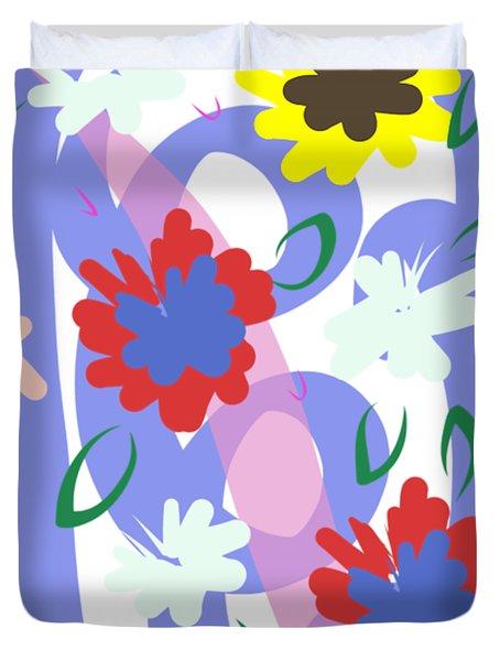 Abstract Garden #1 Duvet Cover