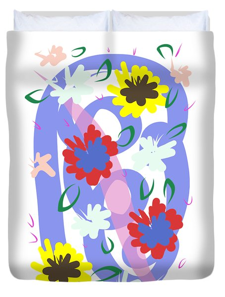Abstract Garden #1 Duvet Cover