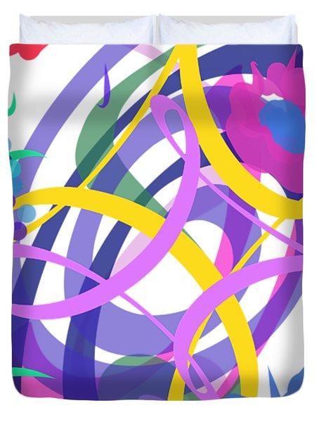 Abstract Garden #2 Duvet Cover