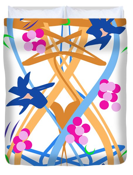 Abstract Garden #3 Duvet Cover