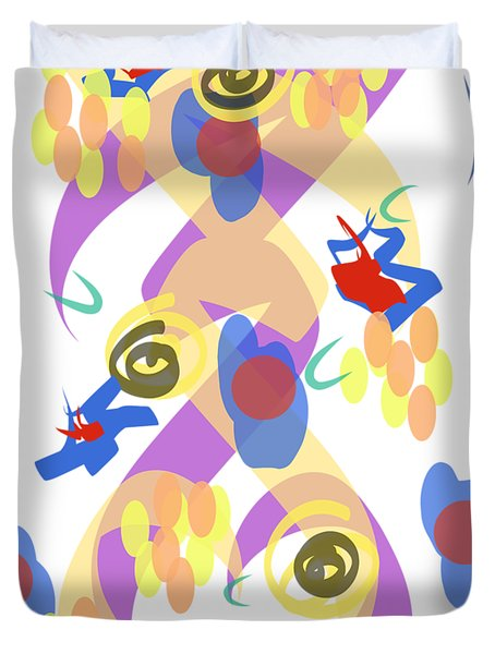 Abstract Garden #5 Duvet Cover