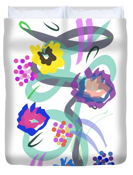 Abstract Garden Nr 4 Duvet Cover