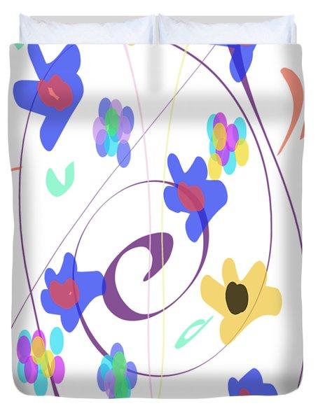 Abstract Garden Nr 7 Naif Style Duvet Cover