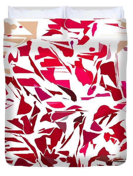 Abstract Geranium Duvet Cover