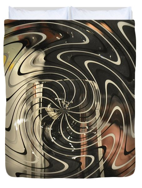Abstract Glass 3 Duvet Cover by Marty Koch