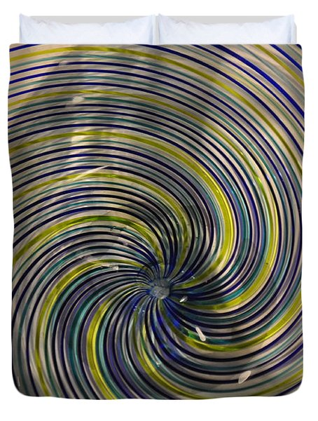 Abstract Glass 6 Duvet Cover by Marty Koch