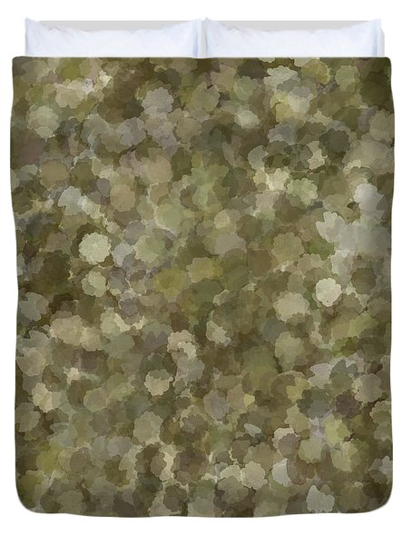 Duvet Cover featuring the photograph Abstract Gold And Cream 2 by Clare Bambers