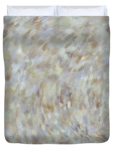 Abstract Gold Cream Beige 6 Duvet Cover