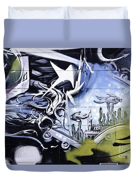 Abstract Graffiti Detail Duvet Cover