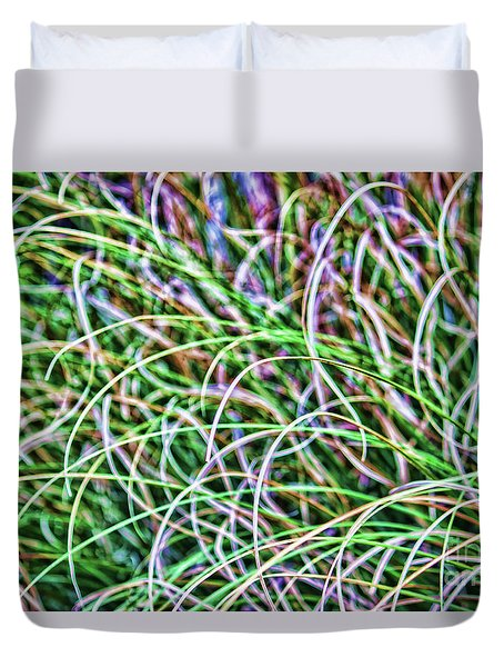 Abstract Grass Duvet Cover