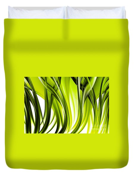 Abstract Green Grass Look Duvet Cover