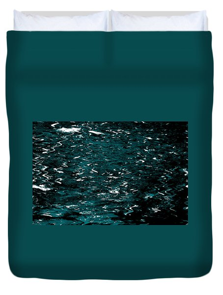 Duvet Cover featuring the photograph Abstract Green Reflections by Gary Smith