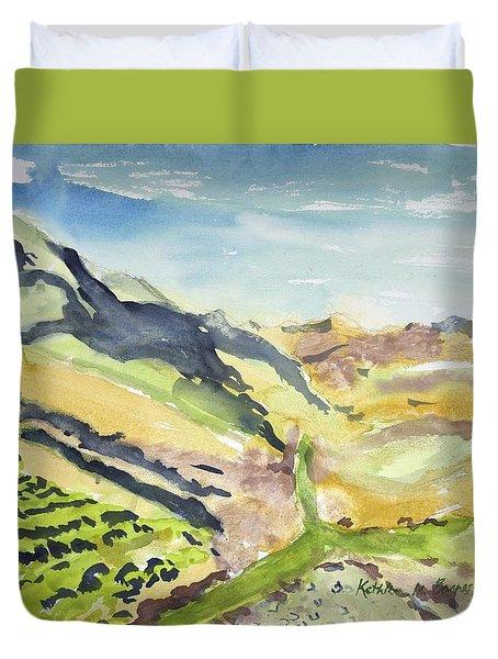 Abstract Hillside Duvet Cover