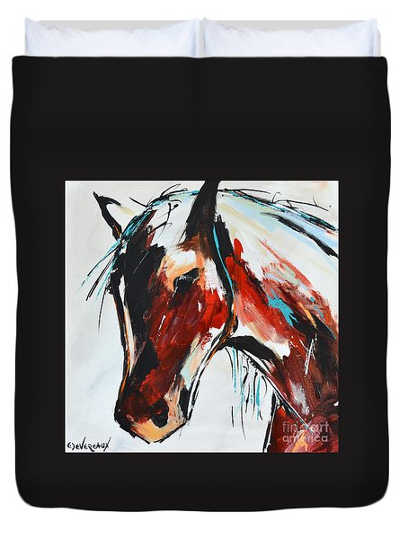 Abstract Horse 15 Duvet Cover