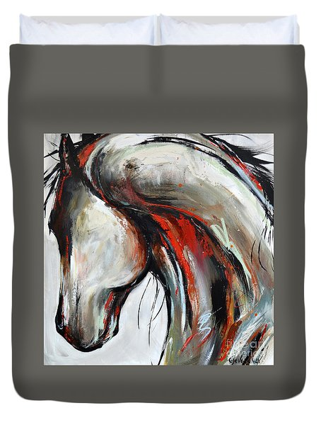 Abstract Horse 21 Duvet Cover