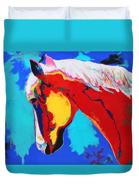 Abstract Horse Duvet Cover