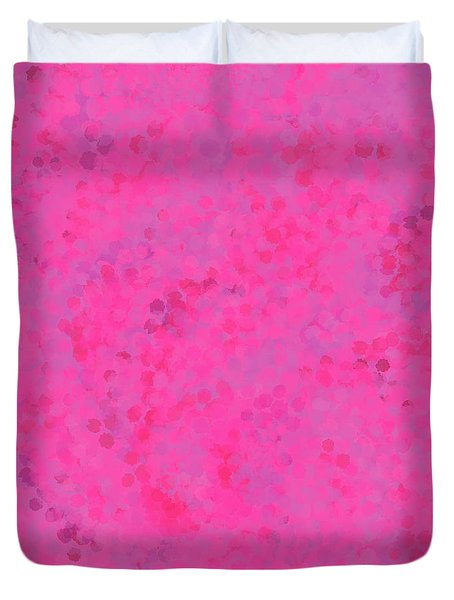 Duvet Cover featuring the mixed media Abstract Hot Pink And Lilac 4 by Clare Bambers