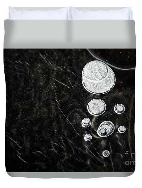 Abstract Ice Patterns II Duvet Cover