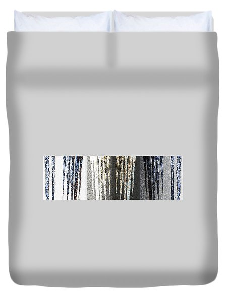 Abstract Icicles Duvet Cover by Will Borden