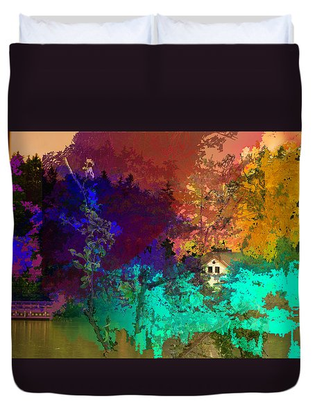 Abstract  Images Of Urban Landscape Series #4 Duvet Cover