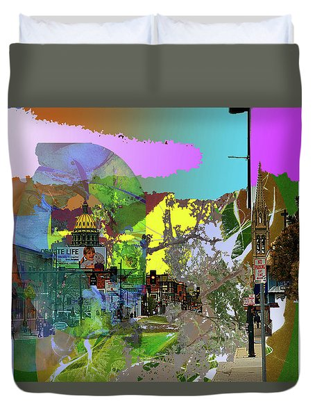 Abstract  Images Of Urban Landscape Series #5 Duvet Cover