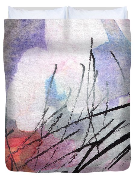 Abstract Intuitive 20161 Watercolor And Ink Duvet Cover