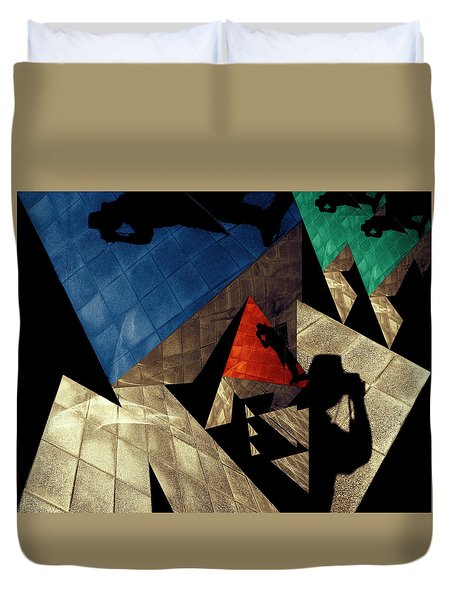 Duvet Cover featuring the photograph Abstract Iterations by Wayne Sherriff