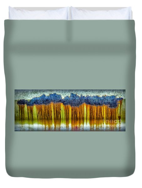 Junkyard Abstract Duvet Cover