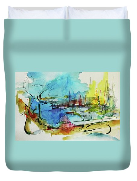 Abstract Landscape #1 Duvet Cover