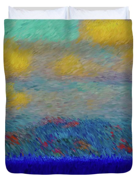 Abstract Landscape Expressions Duvet Cover