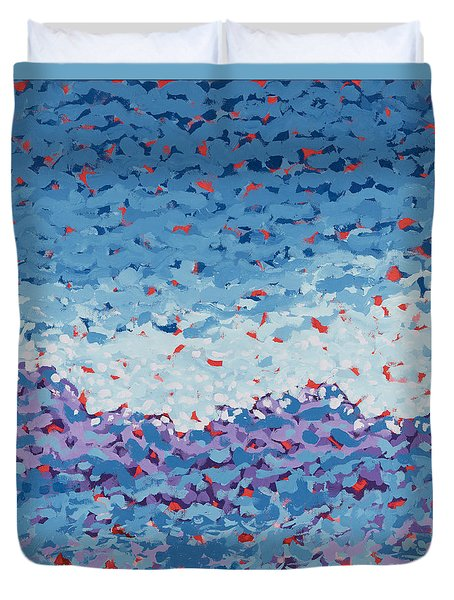 Abstract Landscape Painting 1 Duvet Cover by Gordon Punt
