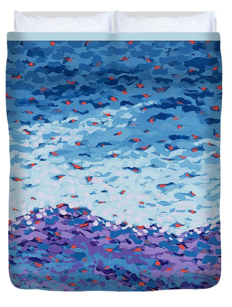 Abstract Landscape Painting 2 Duvet Cover by Gordon Punt